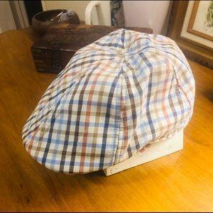 Christys' Crown Newsboy Cap Plaid Hat
